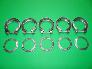5x Auspuffschelle + 5x Dichtung für DPF Dieselpartikelfilter Audi 1.4 - 2.0 TDI