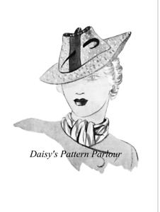 Caricamento dell immagine in corso Vintage-Sewing-Pattern-1930s-Cappello -Eclair-COUPE-Parigi- e6ba87692342
