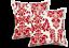 Par-De-Cortinas-PLISADAS-DE-LAPICES-de-Damasco-Flocado-Cinta-Superior-Forrado-Tieback-Funda-De-Cojin miniatura 26