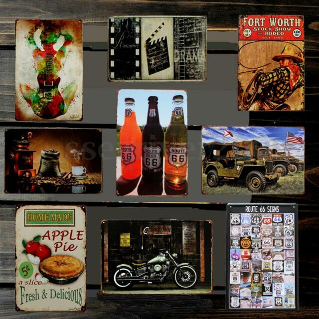 20*30CM Vintage Metal Sign Tin Retro Car Repair shop Pub Bar Wall Decor Poster