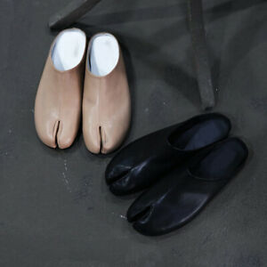 ByTheR Unique Fashion Simple Leather Tabi Bloafer Shoes Ninjawear Split Toe RARE