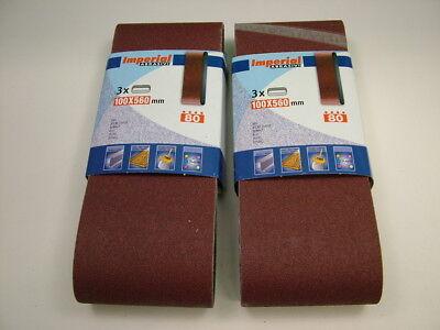Sanding belts 100x560mm fine 180 grit pack of 6 belts,premium quality European