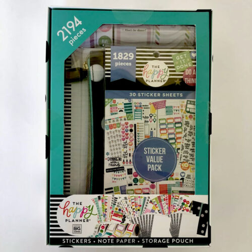 The Happy Planner Accessory Pack Stickers Note Paper Storage Pouch 2194 Pieces