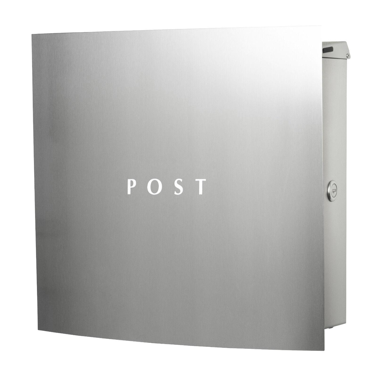 KNOBLOCH Dessau BS1010-5-VA Aufputz-Briefkasten Edelstahl Postkasten Briefbox