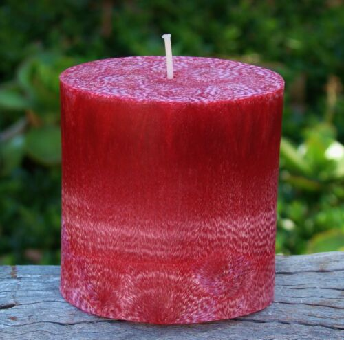 FREE AUSSIE SHIPPING 70hr Mademoiselle French PINK Scented Oval NATURAL CANDLE