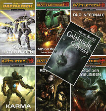 Bundle-6 x BATTLETECH + Galaktische Odyssee-Science-Fiction Romane-neu