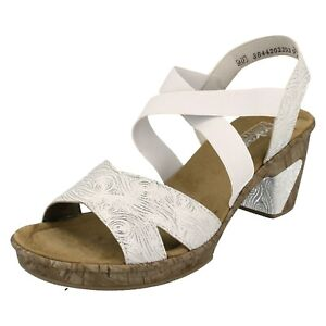 88dda9013b526 Ladies Rieker Heeled Sandal With Elasticated Strap - 69720 | eBay