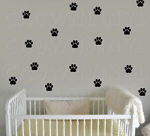 CAT-Paw-Print-Decals-Pet-Animal-1-5-034-or-2-5-034-Wall-Window-Floor-Stickers-Big-Set
