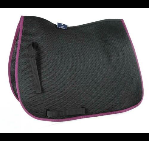 Shires Air Motion Saddlecloth in Black//Plum