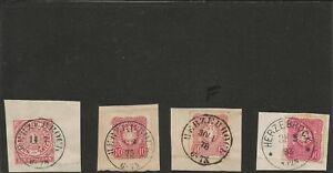 Preussen-V-HERZEBROCK-je-klarer-K2-auf-Reichspost-Vorlaeufer-Briefstueck-NDP-16