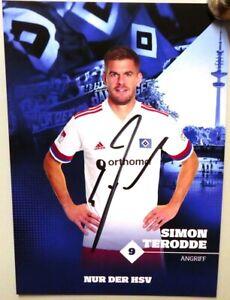 Hamburger SV + Original Autogrammkarte 2020/2021 + Simon Terodde + AK2021071