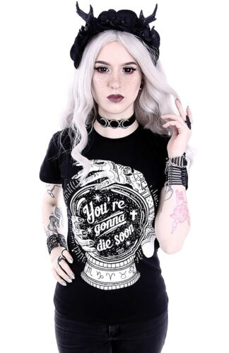 Restyle Gothic T-Shirt Bluse Nugoth Wahrsagerin Kugel magisch Witchy Okkult