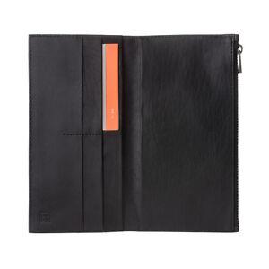 taglia 40 cd283 7f4b7 Dettagli su DuDu Portafoglio uomo verticale grande in Vera Pelle Nero con  Zip porta carte