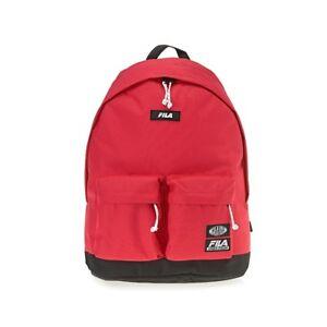 c4d76ed4feda FILA 2 Pocket Round BackPack Rucksack School Bag Campus Bag Red ...