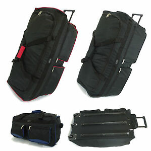 5fb4f66e12a3 Details about XXL Extra Large Travel Luggage Wheeled Trolley Holdall  Suitcase Case Duffle Bag