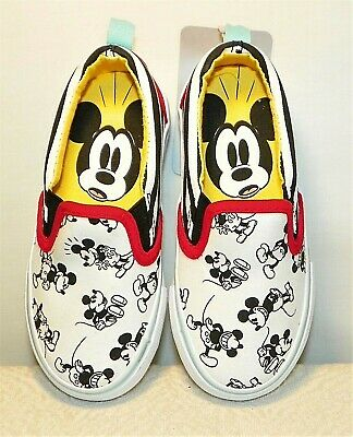 *New* Disney Mickey Mouse Boat Shoes Blue//Red Baby//Toddler Multiple Sizes