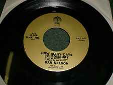 How Many Days To Someday & Motions Of Love Dan Nelson~RARE Country 45 RPM~DNE