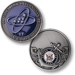 US Navy Electronics Technician Challenge Coin ET Rating Rate ...