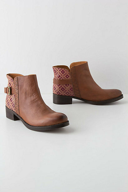 NIB Anthropologie Caravan Tile Booties Size 37 Euro