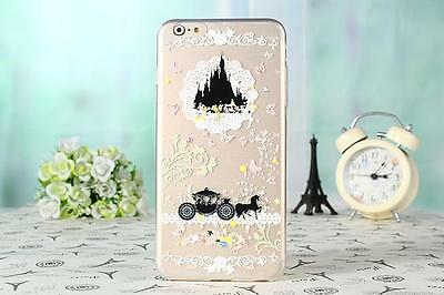 Princess Clear Transparent TPU Soft PC Back Case Cover For iPhone 6Plus Samsung