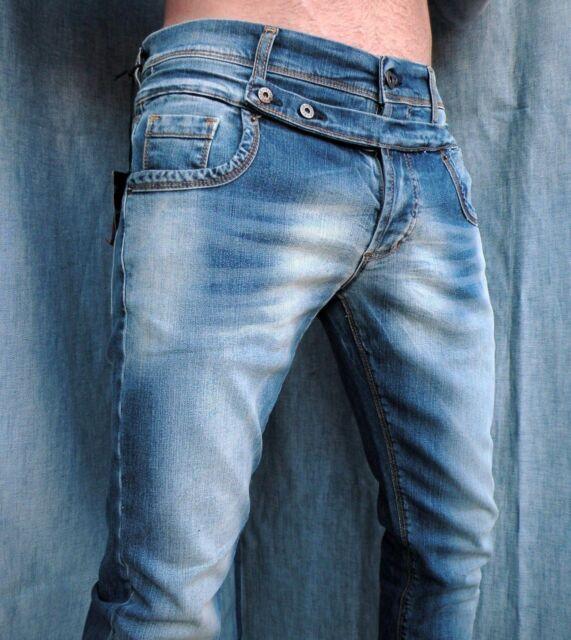 Pantaloni Jeans Klixs Vita Bassa Denim Cotone Comfort Colore Blu Vintage