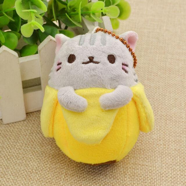 Bananya Cat Lovely Plush Doll Toy Pendant Cartoon Bag Accessories Keychain Anime