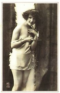 Nostalgia-Postcard-1920s-A-Typical-French-Originated-Risque-Card-Repro-Card-NS4