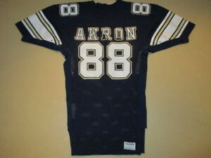 new product e9ddc 33bb2 Details about VINTAGE GAME USED WORN AKRON ZIPS MACGREGOR SAND KNIT  FOOTBALL JERSEY #88 46