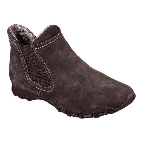 SKECHERS LADIES CHOCOLATE RELAXED FIT LONDONER BOOTS