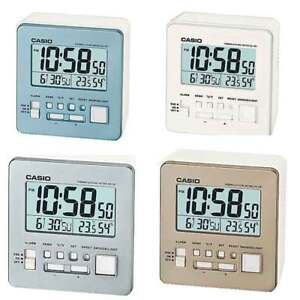 CASIO-PORTABLE-TRAVEL-CLOCK-DQ-981-ALARM-THERMOMETER-HYGROMETER-LED-LIGHT