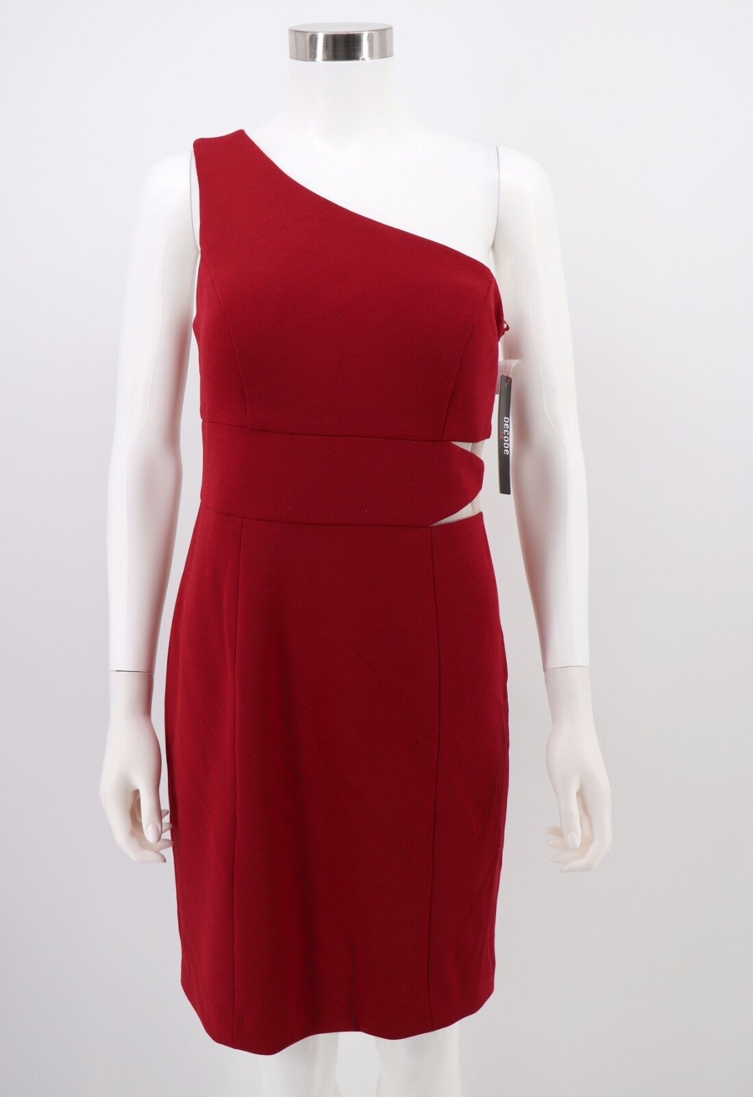 Decode 1.8 Dress 14 Womens NWT Red Stretch One-Shoulder One-Shoulder One-Shoulder Bodycon Sheath 14a6b7