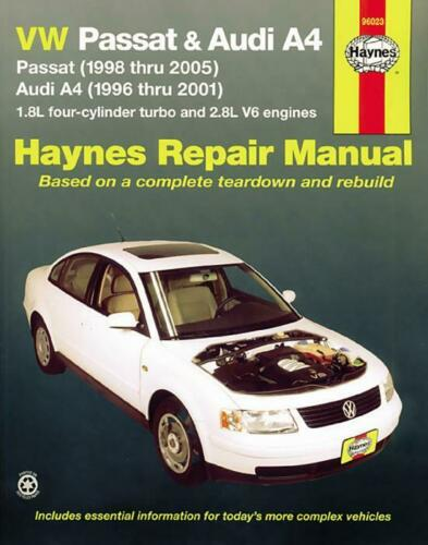 Haynes Workshop Manual VW Passat Audi A4 Gas Petrol 1996-2005 Service Repair