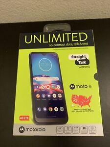 NIB - Motorola Moto E (2020) - 32GB - Midnight Blue (Straight Talk) (Prepaid)
