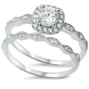 16bf87ca80a567 Image is loading Sterling-Silver-925-CZ-Halo-Round-Vintage-Engagement-