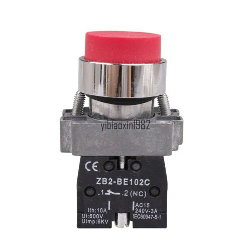New Extended Switch XB2-BL42 Red touch switch 1NC 2 position switch IP65