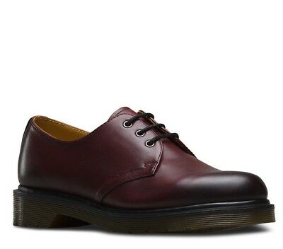 DR MARTENS MEN/'S 1461 ANTIQUE TEMPERLEY CHERRY RED LEATHER SHOES 21153600