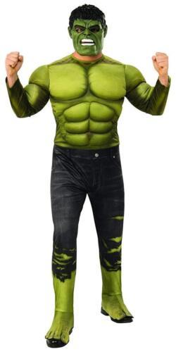 Deluxe Marvel Hulk Adult Costume Mask Mens The Avengers Superhero Std-XL