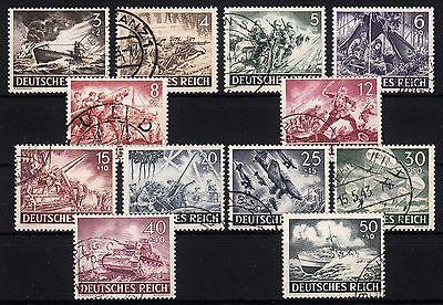 101190/ Deutsches Reich 1943 - Mi 831/42 - Wehrmacht - O - M€ 22,00