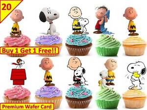 40 charlie brown edible cup cake toppers premium wafer rice image is loading 40 charlie brown edible cup cake toppers premium bookmarktalkfo Gallery