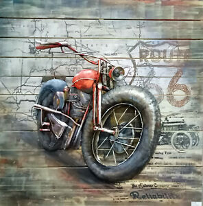 Details About Motorcycle Wall Art Eclectic Home Decor Metal Vintage