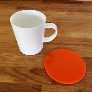 """éNergique Round Orange Vernis Acrylique Coasters, Ensembles De 4, 6 Ou 8, 10 Cm 4""""-afficher Le Titre D'origine Pour Assurer Une Transmission En Douceur"""