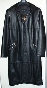 VERSACE-TOP-design-Orig-leather-coat-Mantel-aus-Leder-manteau-de-cuir