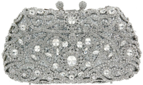 Bridal Purse Grijs Evening Zilver Zwart Crystal Bag Luxury Goud Clutch Rose OZkuXPi