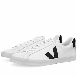 Veja-Esplar-Clean-Cuir-Basket-Blanc-amp-Noir-Chaussures