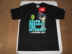 810fe99a AUTHENTIC APE BAPE x RALPH BREAKS THE INTERNET TEE #3 T SHIRT BLACK ...