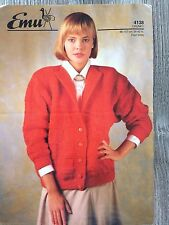 "Emu Knitting Pattern: Ladies Cardigan, Chunky, 34-42"", 4138"