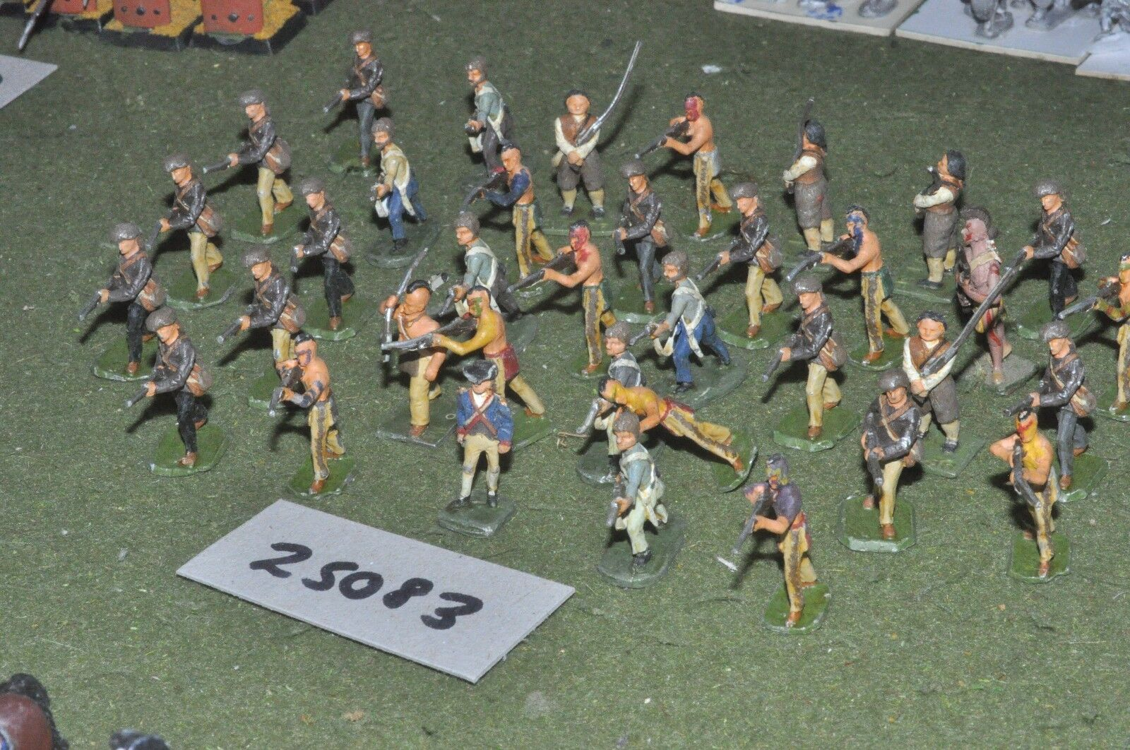 25mm 7YW   american - - - old school indians & militia 36 figures - inf (25083) c20e20