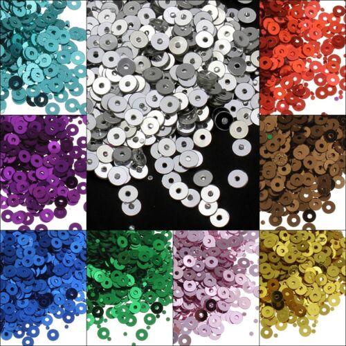 100g // 10 farben Pailletten Glatt farben set Perlen Kleidung Schmuck 3mm DIY