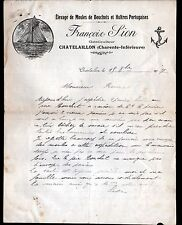 """CHATELAILLON (17) ELEVAGE de MOULES de BOUCHOTS & HUITRES PORTUGAISES """"F. SION"""""""