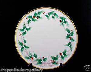 Image is loading MIKASA-RIBBON-HOLLY-BONE-CHINA-CAKE-PLATE-MINT & MIKASA RIBBON HOLLY BONE CHINA CAKE PLATE u2013 MINT | eBay